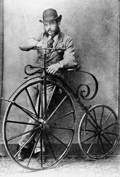 Transitional English high-wheeler - early 1870s