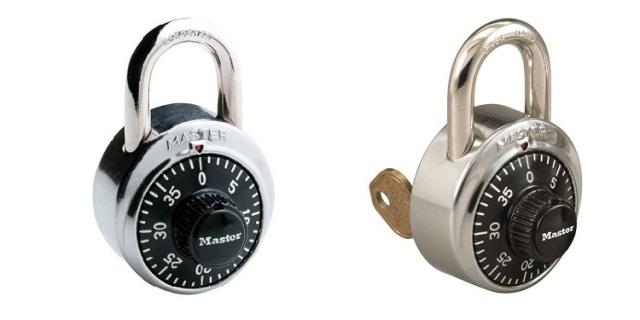 Master Lock No. 1502, No. 1525 Padlocks