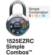 Master Lock No. 1525ERZC Simple Combos™