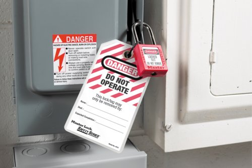 497A Tag 410RED Safety Padlock Lockout Tagout LoTo