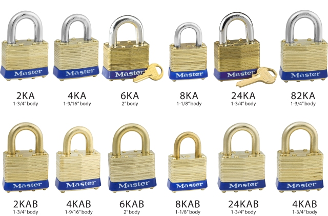 Master Lock Laminated Bras Padlocks