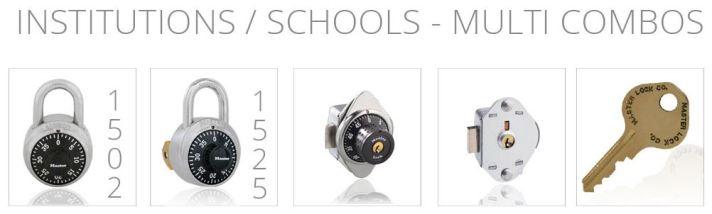 Schools, Institutions and Government Agency Locker Locks - masterlocks.com