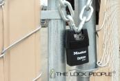 Master Lock No. 6321 ProSeries® Laminated Steel Shrouded Padlock, with Iron Shroud