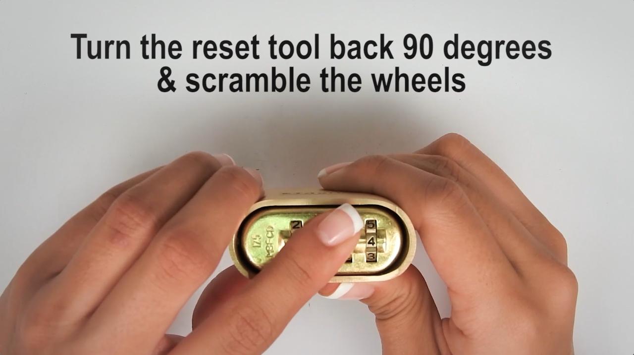 How to Reset Master Lock No. 175 and 176 – Master Locks